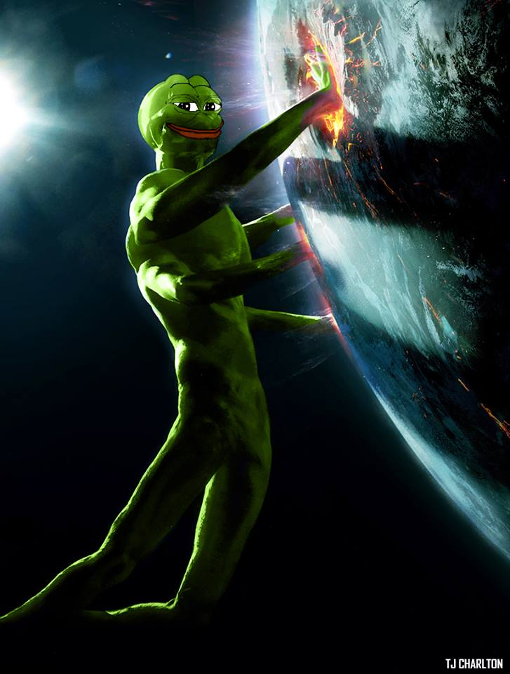 four armed form kek pepe