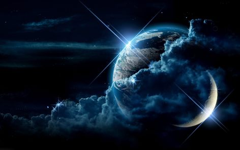 earth-and-moon-in-space-wallpaper
