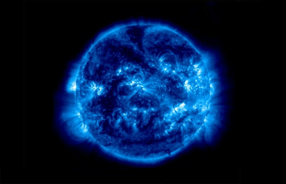 blue sun outer space