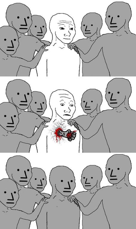npc breaks heart become npc