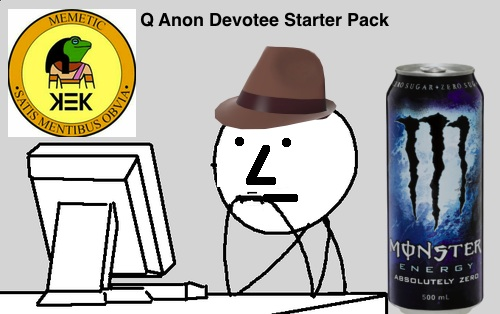 q anon starter pack devotee npc